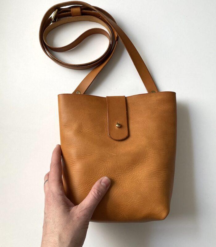 P Kirkwood Small Bag No.2 Tan Front Hand 2021