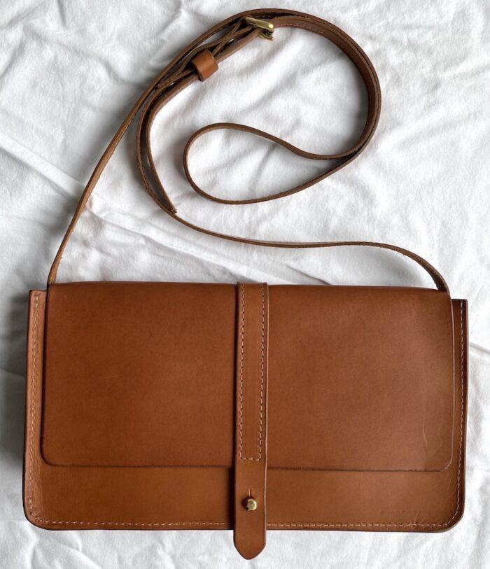 Paula Kirkwood Box Handbag Tan Front Aw2020 1