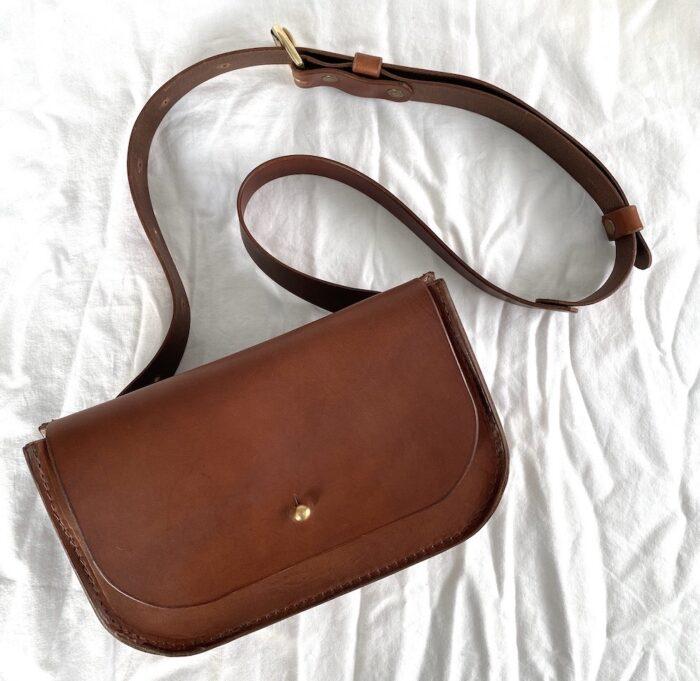 Paula Kirkwood Brown Belt Bag Front 2020